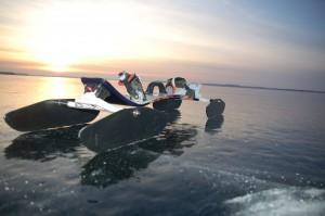 Mountaianboard mit Kufen/Iceblade