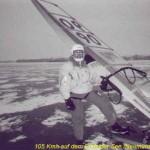 Uwe Michelchen Weltrekord im Speedsurfen auf Eis mit 105 KMh /56,7 Knoten